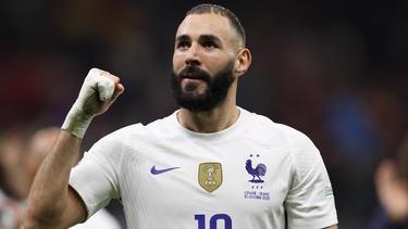 Spielte eine wichtige Rolle beim Gewinn der Nations League: Karim Benzema