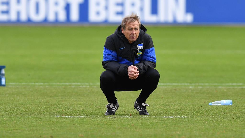 Hertha-Trainer Jürgen Klinsmann plant erst einmal bis zum Sommer