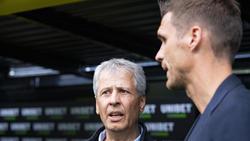 Müssen mindestens noch ein Jahr auf einen weiteren BVB-Titel warten: Lucien Favre (l.) und Sebastian Kehl
