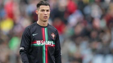 Ein Einsatz von Superstar Cristiano Ronaldo ist ungewiss
