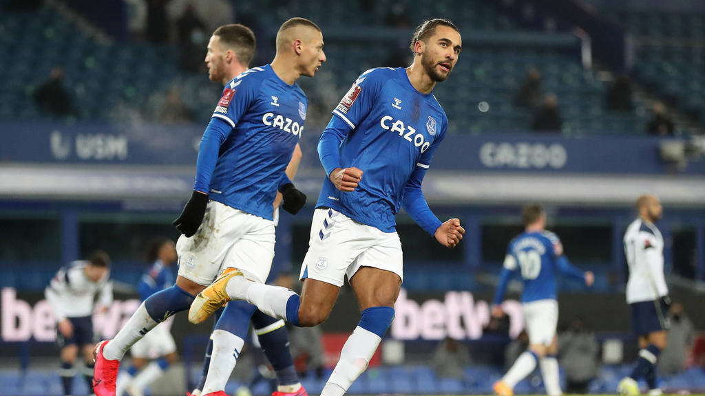 Der FC Everton jubelt über den Sieg gegen Tottenham Hotspur