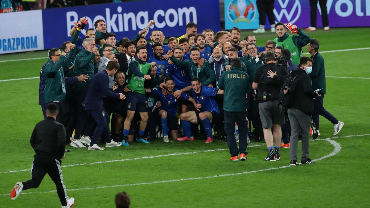Italienischer Jubel nach dem Einzug ins EM-Endspiel