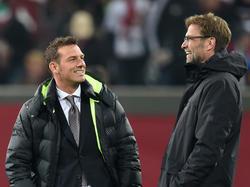 Markus Weinzierl (l.) und Jürgen Klopp sind gut gelaunt