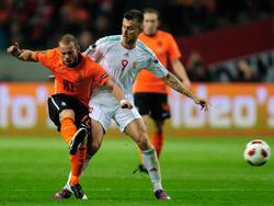 Tamás Priskin im Länderspieleinsatz gegen die Niederlande