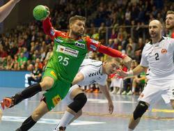 Marko Bezjak minnt einen Wurf