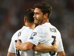 Los alemanes celebran un gol en unpartido amistoso. (Foto: Getty)