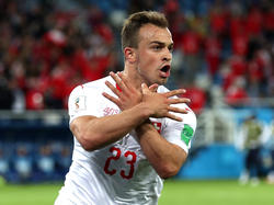 Xherdan Shaqiri feierte seinen Treffer mit einer Doppeladler-Geste