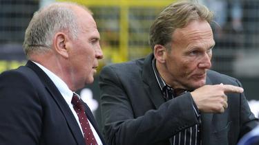 Bayern-Präsident Hoeneß und BVB-Boss Watzke pflegen nicht das beste Verhältnis