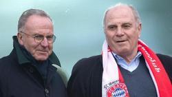 Helfen mit dem FC Bayern dem FCK:Vorstandsboss Karl-Heinz Rummenigge (l.) und Präsident Uli Hoeneß