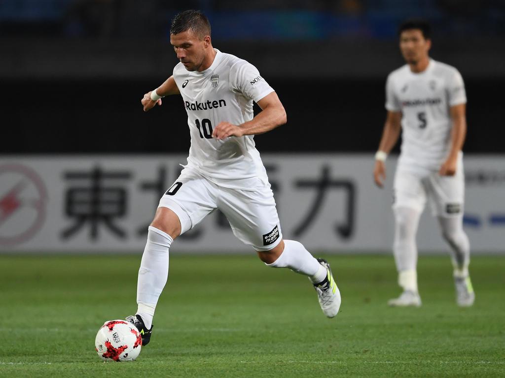 Lukas Podolski ist mit Kobe aus dem Ligapokal ausgeschieden