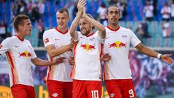 Die Leipziger bejubelten drei eigene Treffer