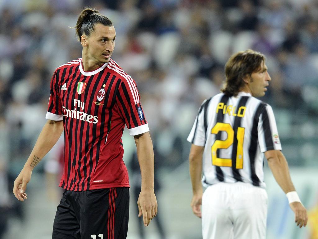 Standen sich schon auf dem Platz gegenüber: Zlatan Ibrahimović und Andrea Pirlo