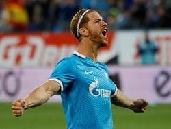 Ansaldi celebra su tanto de penalti con el Zenit en la Supercopa rusa. (Foto: Getty)