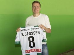 Ruben Yttergård Jenssen tekent bij FC Groningen een driejarig contract en wordt aan de pers gepresenteerd. (07-06-2016)