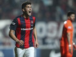 Nicolás Bladi celebrando el 2-0 del San Lorenzo. (Foto: Imago)