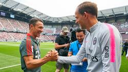 Niko Kovac (l.) und Thomas Tuchel treffen sich zum Kräftemessen