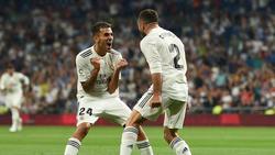 Dani Carvajal (r.) erzielte Real Madrids ersten Treffer dieser La-Liga-Saison