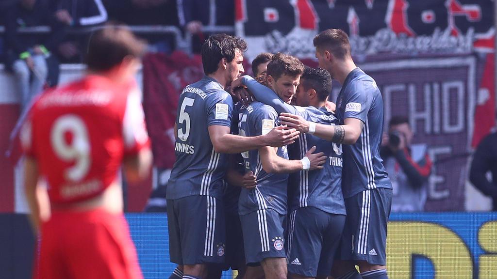 Der FC Bayern siegte bei Fortuna Düsseldorf