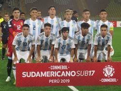 El once inicial del último partido de la Sub-17 argentina. (Foto: @Jaimefmacias)