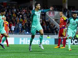 Cristiano Ronaldo kletterte in der ewigen Länderspiel-Torschützenliste auf Platz vier
