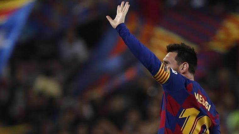 Überragender Spieler beim Barca-Sieg gegen Valladolid: Lionel Messi. Foto: Joan Monfort/AP/dpa