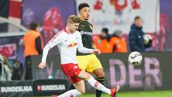 Timo Werner (l.) und Jadon Sancho könnten die Bundesliga verlassen