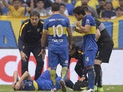 Gago sufrió la grave lesión cuando faltaba poco para terminar el primer tiempo. (Foto: Imago)