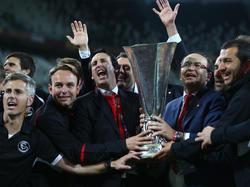 Il Siviglia festeggia la conquista della Coppa