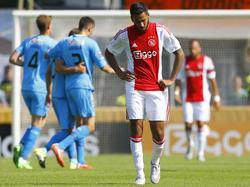 Ajacied Ricardo Kisha baalt van een tegendoelpunt in het verloren (1-3) oefenduel met FC Nordsjælland. (10-07-2015)