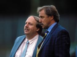Bayers Gespann: Manager Rainer Calmund (l.) und Dragoslav Stepanovic (r.)
