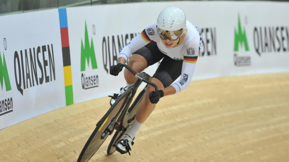 Emma Hinze verlor ihren Viertelfinal-Lauf beim Bahnrad-Weltcup