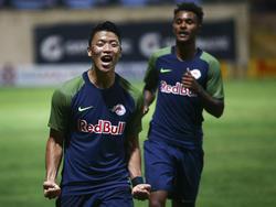 Salzburg bejubelt einen klaren Sieg bei Maltas Meister Hibernians FC