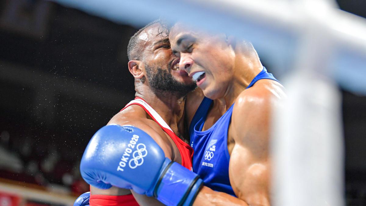 Youness Baalla (l.) sorgte bei Olympia für einen Aufreger