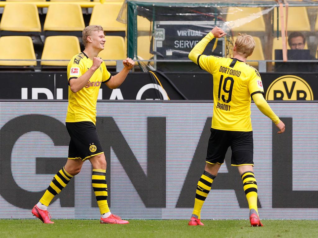 Starker Auftritt von Erling Håland und Julian Brandt beim Restart der Bundesliga