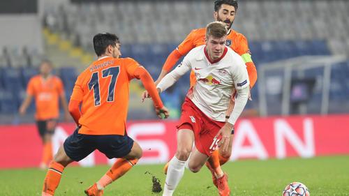 Alexander Sörloth (r.) traf zum ersten Mal für RB