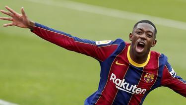 Der ehemalige BVB-Profi Ousmane Dembélé sorgte mit seinem späten Treffer für den Barca-Sieg