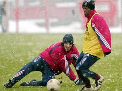 Zwei Südamerikaner im bayrischen Winter