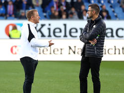 Markus Anfang im Gespräch mit Michael Köllner (r.)