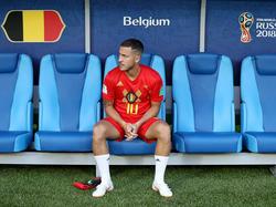 Hazard en el pasado Mundial de Rusia con la equipación de Bélgica. (Foto: Getty)