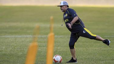 Diego Maradona kassierte mit seinem Team eine 0:1-Niederlage