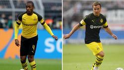 Der BVB bangt vor dem Spiel in Wolfsburg um Abdou Diallo (li.) und Mario Götze