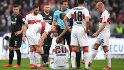 Christian Gentner vom VfB Stuttgart hat sich gegen Eintracht Frankfurt verletzt