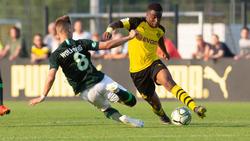 Youssoufa Moukoko (hier im Hinspiel) traf auch im zweiten Duell gegen den VfL Wolfsburg