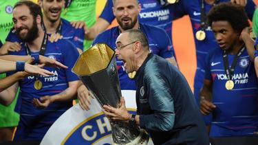 Sarri gewann mit dem FC Chelsea die Europa League