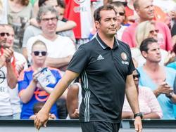 Keeperstrainer Khalid Benlahsen tijdens de open dag van Feyenoord. (17-07-2017)