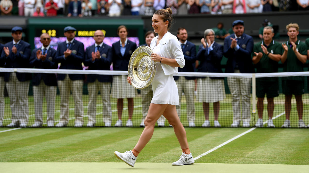 Simon Halep sicherte sich ihren ersten Wimbledon-Sieg