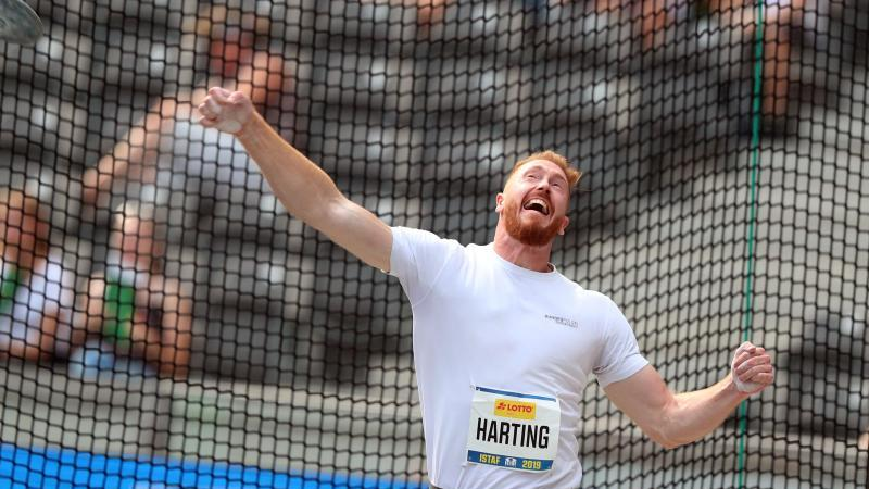 Christoph Harting landet beim ISTAF auf Rang neun