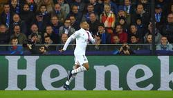 Mbappé celebra su triplete en tierras belgas.