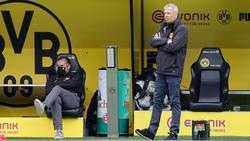 Favre en la zona técnica local del Signal Iduna Park.