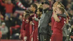 Nach dem Sieg gegen Barca ließen sich Jürgen Klopp und Co. feiern